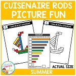 Cuisenaire Rods Picture Fun: Summer ~Digital Download~